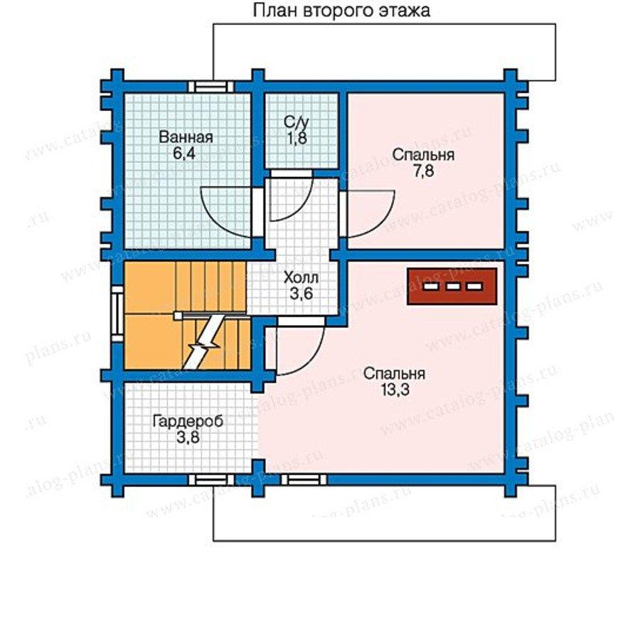 План 2-этажа проекта 13-55