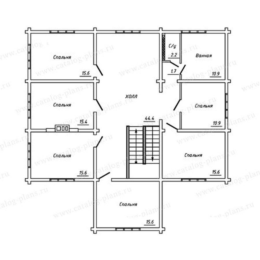 План 3-этажа проекта 13-27