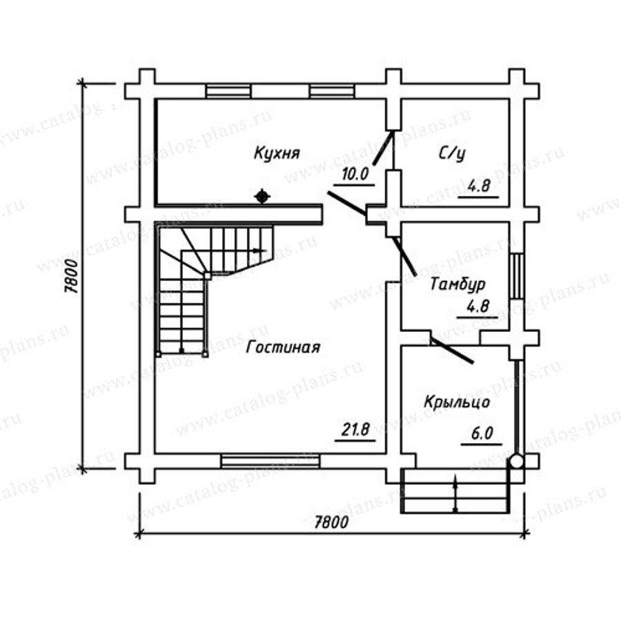 План 1-этажа проекта 13-74