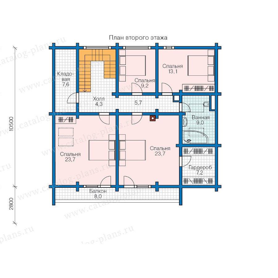 План 2-этажа проекта 13-58