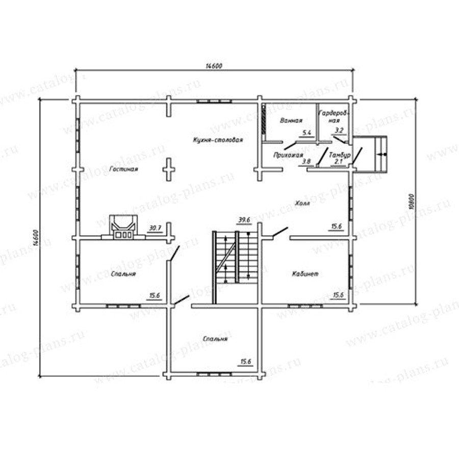 План 2-этажа проекта 13-27