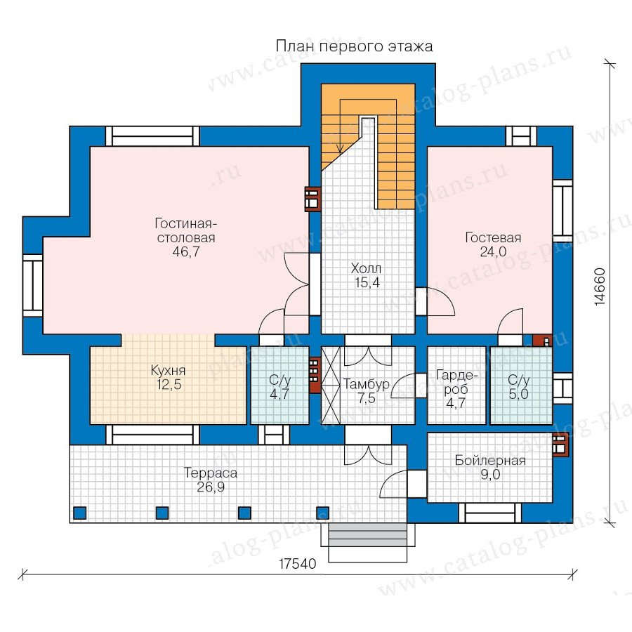 План 1-этажа проекта 40-43GL