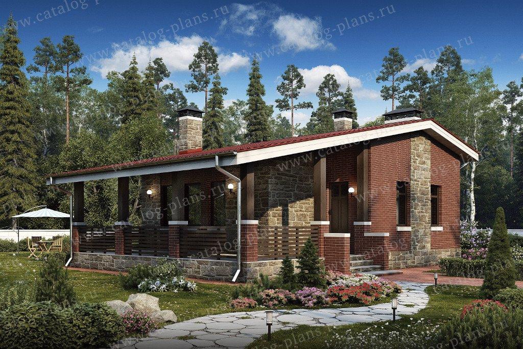 Проект жилой дом #48-19G материал - газобетон, стиль норвежский