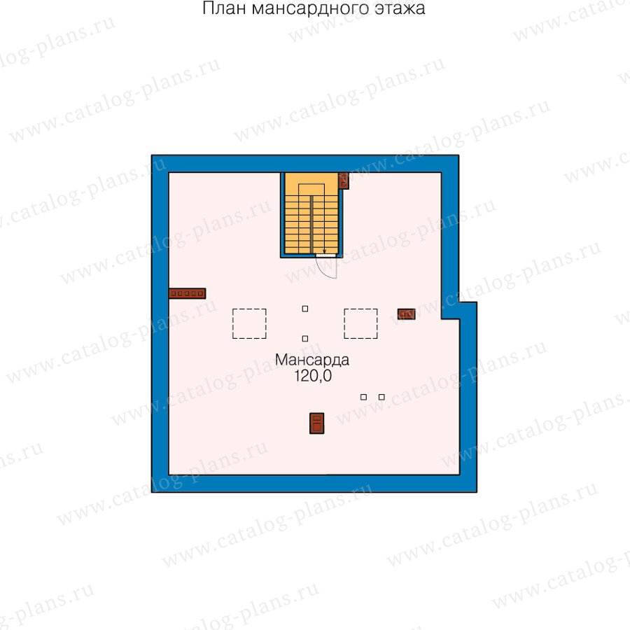 План 3-этажа проекта 40-25