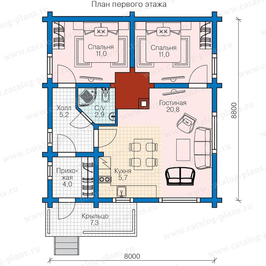 План 1-этажа проекта 13-62