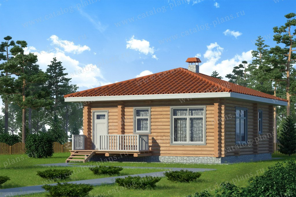 Проект жилой дом #13-62 материал - дерево, стиль скандинавский