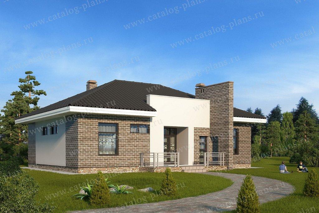 Проект жилой дом #60-82 материал - газобетон, стиль хай-тек