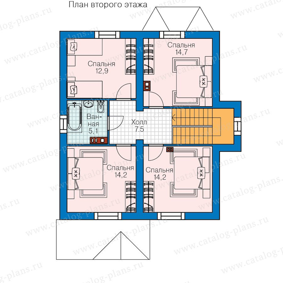 План 2-этажа проекта 60-83