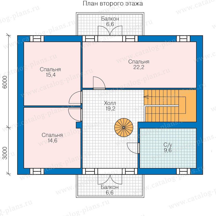 План 2-этажа проекта 60-79