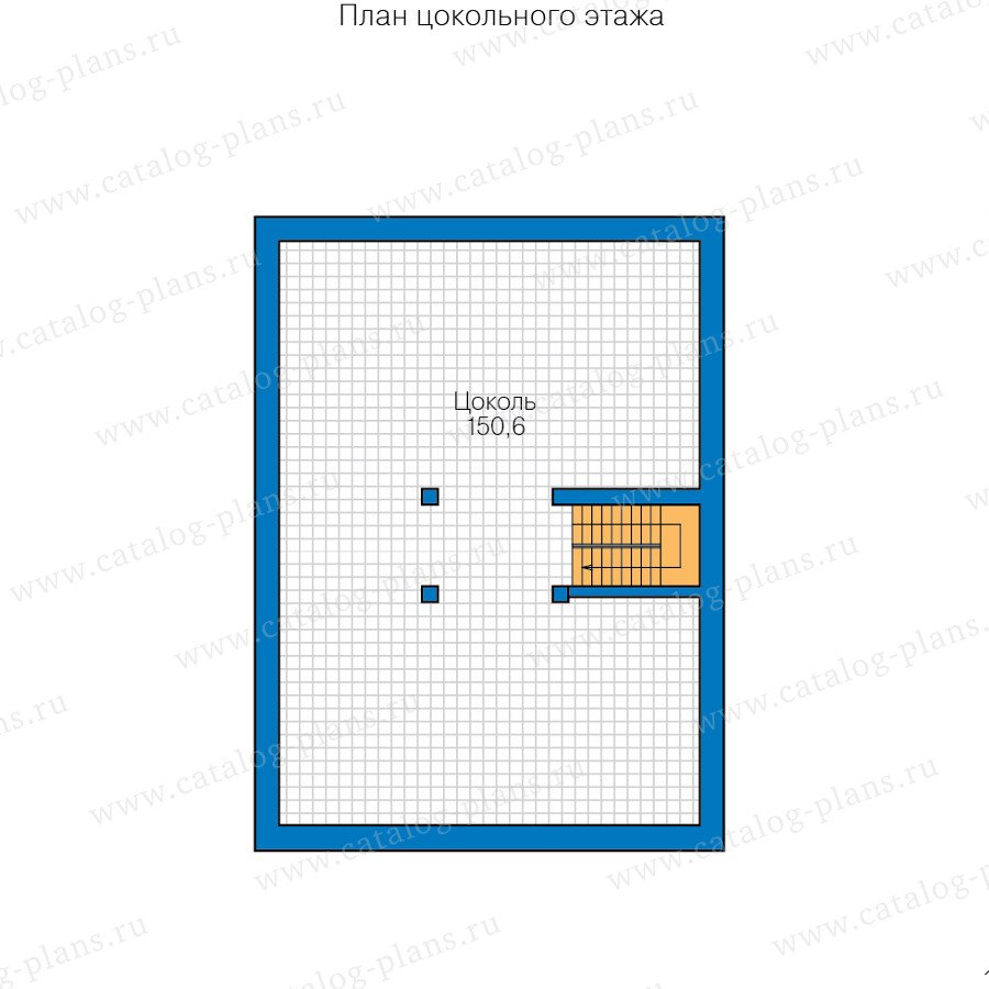План 1-этажа проекта 40-45L