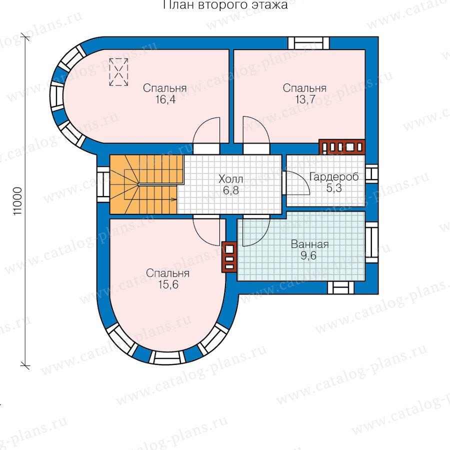 План 2-этажа проекта 58-53