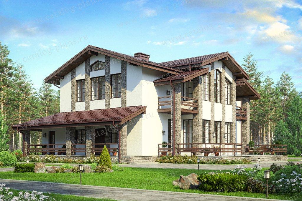 Проект жилой дом #40-48 материал - кирпич, стиль шале