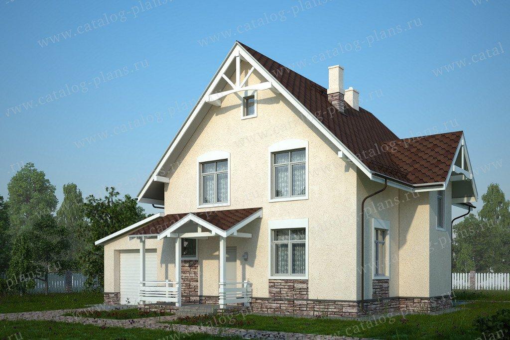 Проект жилой дом #60-83 материал - газобетон, стиль европейский