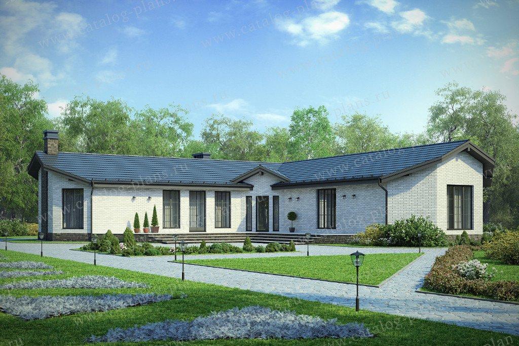 Проект жилой дом #58-50L материал - газобетон, стиль классический