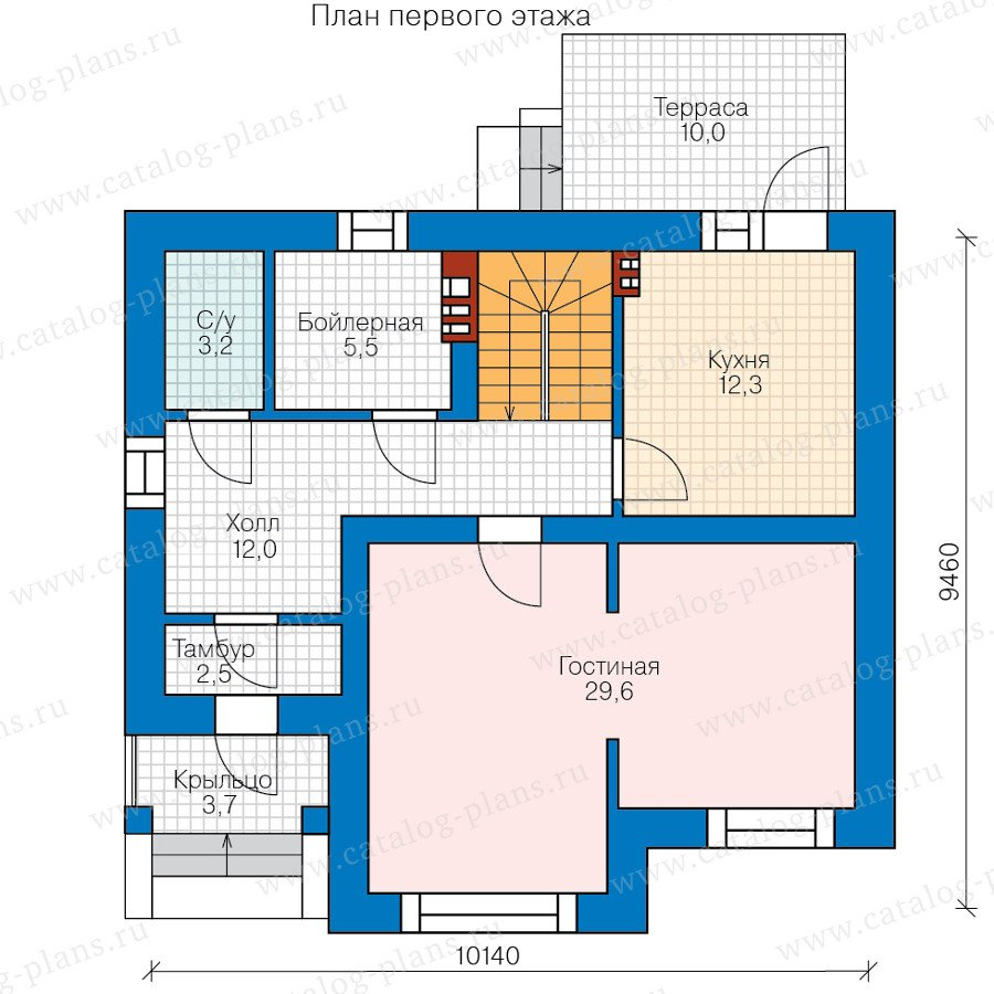 План 1-этажа проекта 40-47