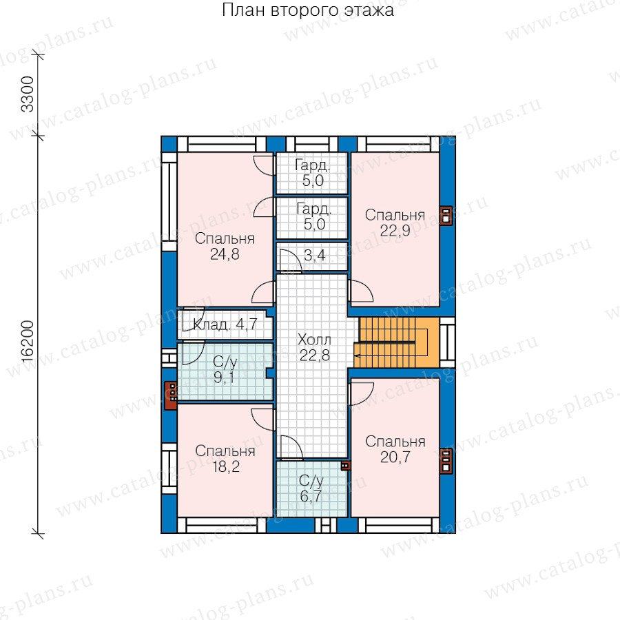 План 3-этажа проекта 40-45L