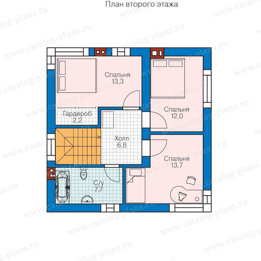 План 2-этажа проекта 58-60
