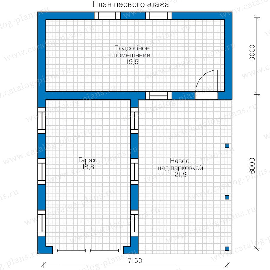 План 1-этажа проекта 90-46
