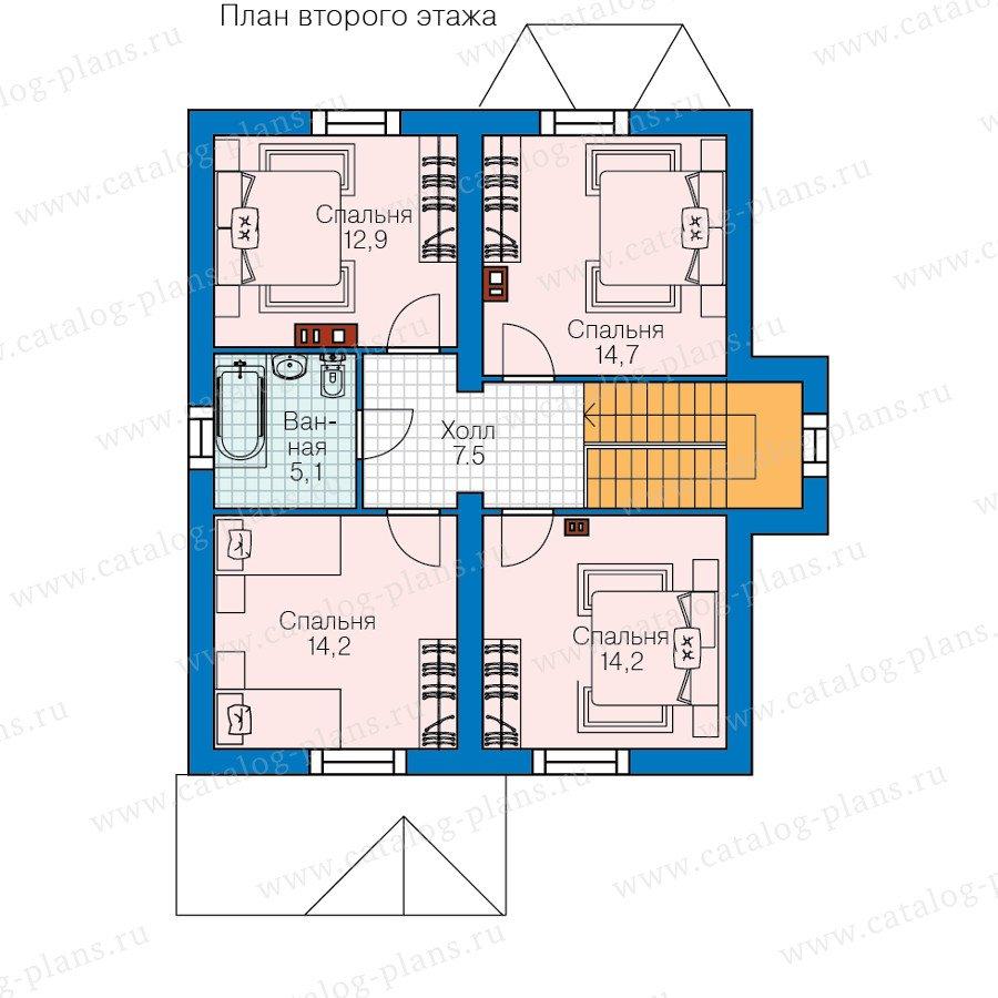 План 2-этажа проекта 60-84