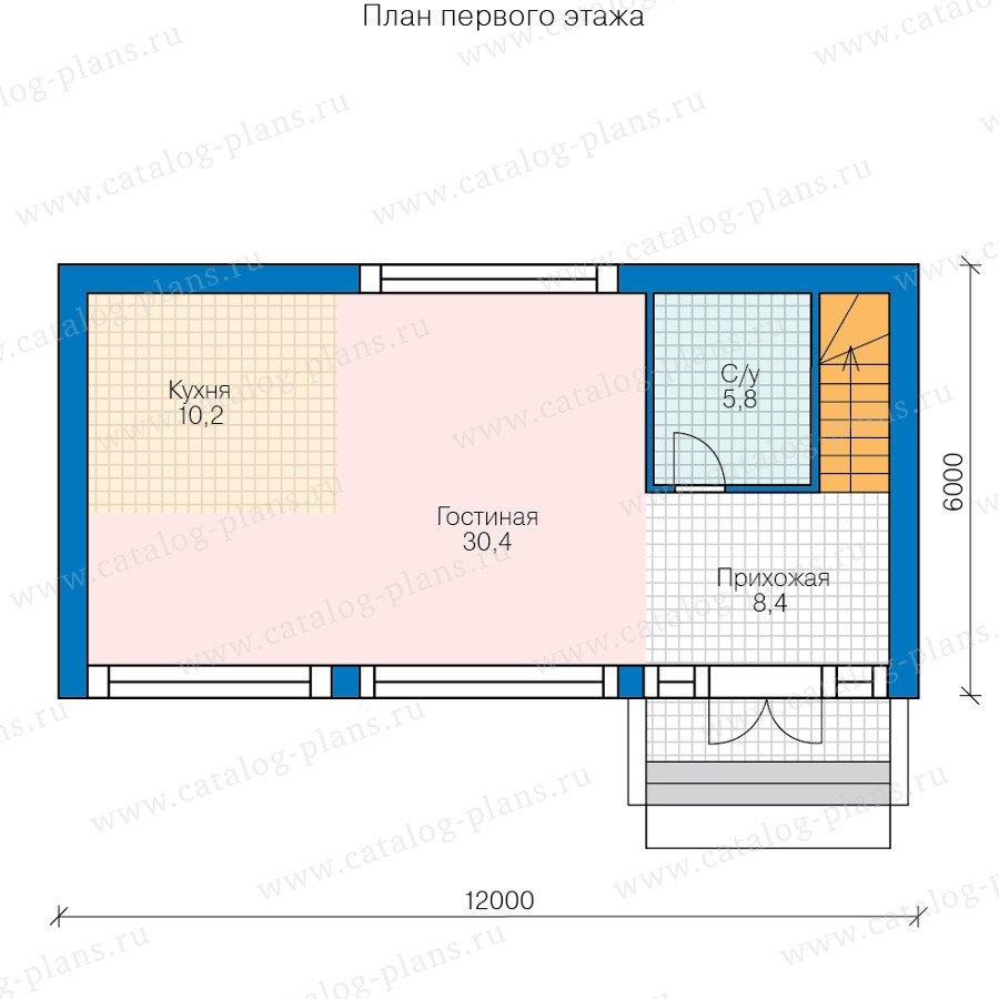 План 1-этажа проекта 60-78