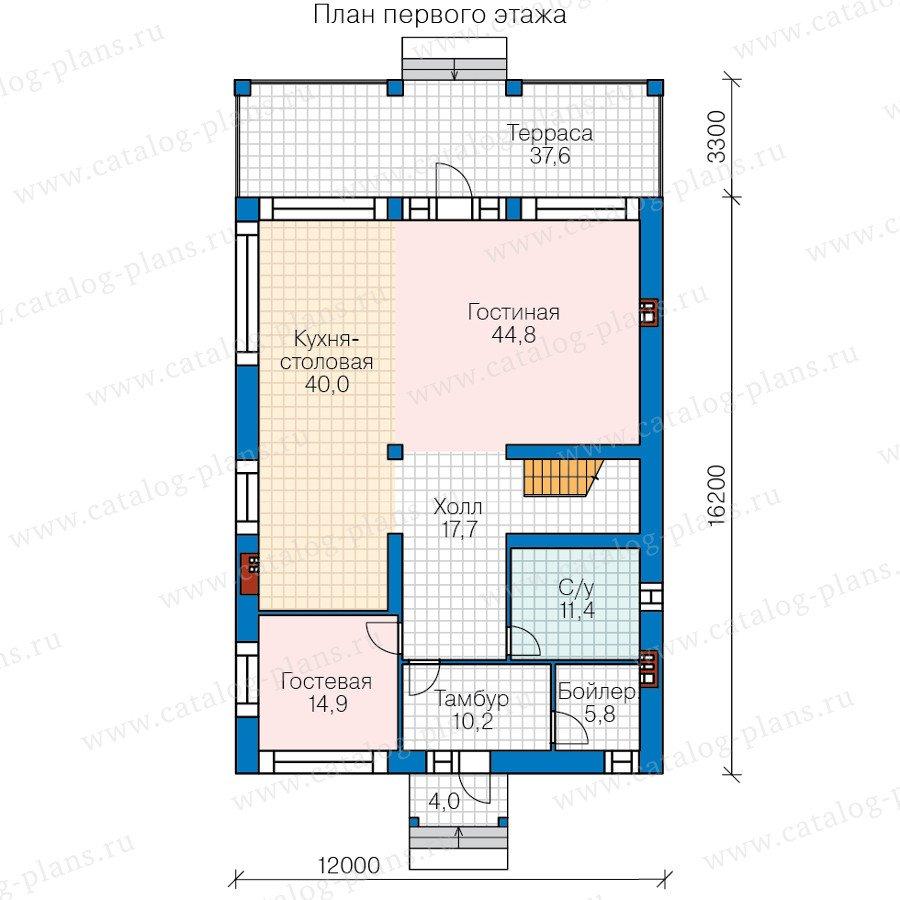 План 2-этажа проекта 40-45L