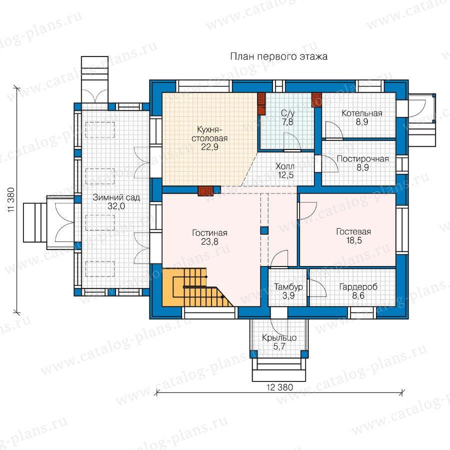 План 1-этажа проекта 40-46l