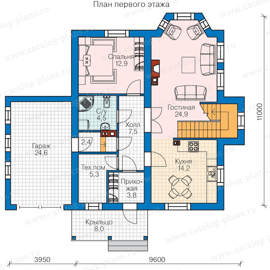 План 1-этажа проекта 60-83