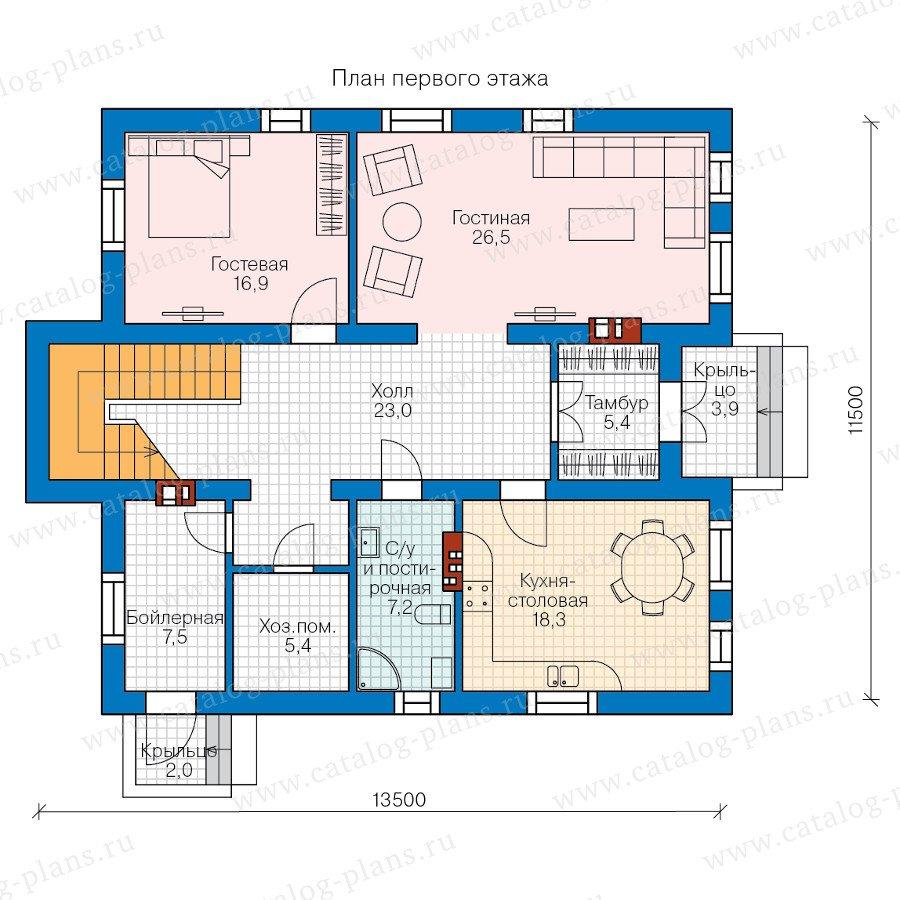 План 1-этажа проекта 58-41
