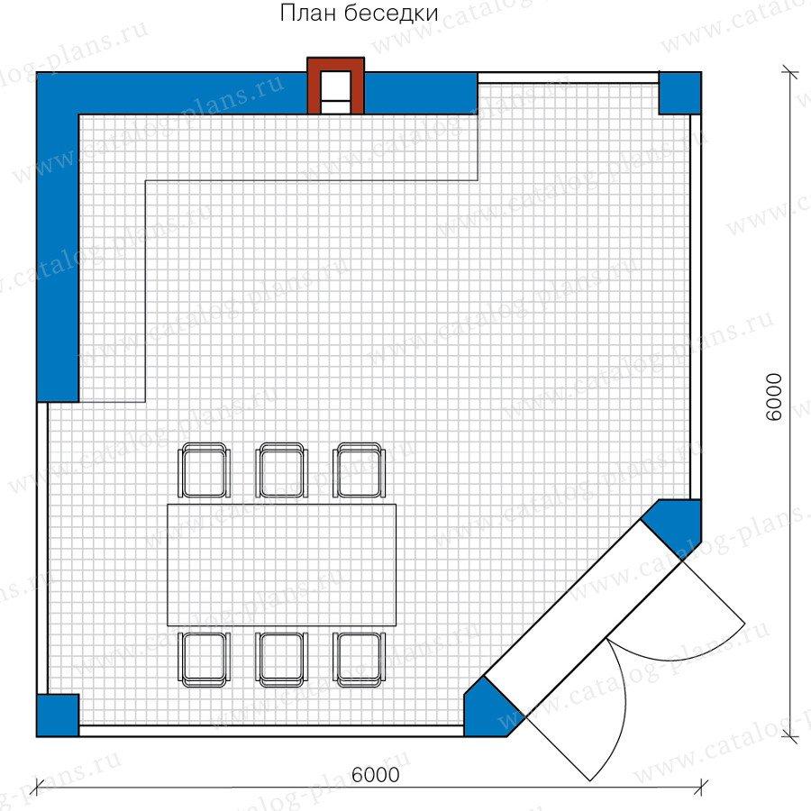 План 1-этажа проекта 90-40