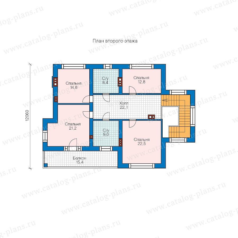 План 2-этажа проекта 58-40KL