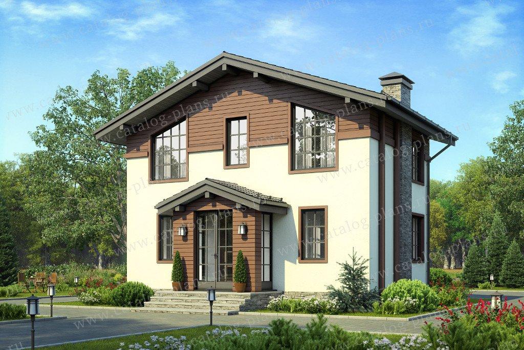 Проект жилой дом #58-58 материал - газобетон, стиль классический