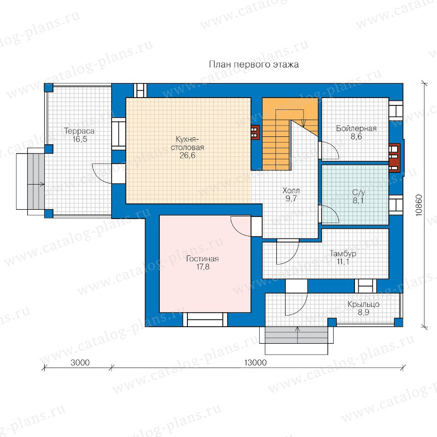 План 1-этажа проекта 58-28L
