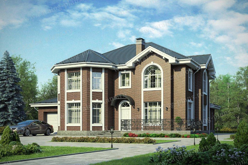 Проект жилой дом #40-49L материал - кирпич, стиль европейский