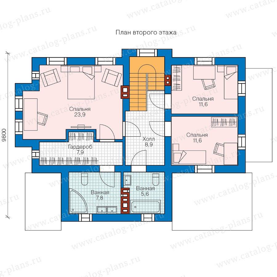 План 2-этажа проекта 58-42K