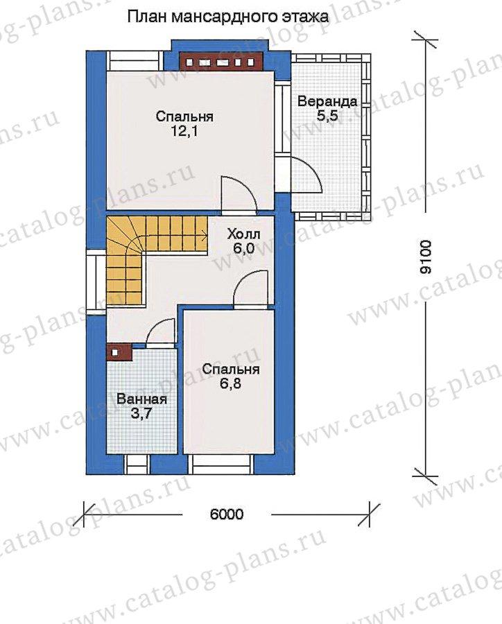 План 2-этажа проекта 34-62