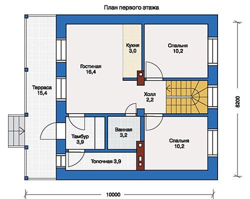 План 1-этажа проекта 33-37