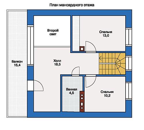 План 2-этажа проекта 33-37