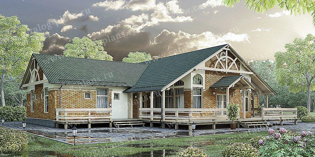 Проект жилой дом #70-28 материал - каркас, стиль скандинавский