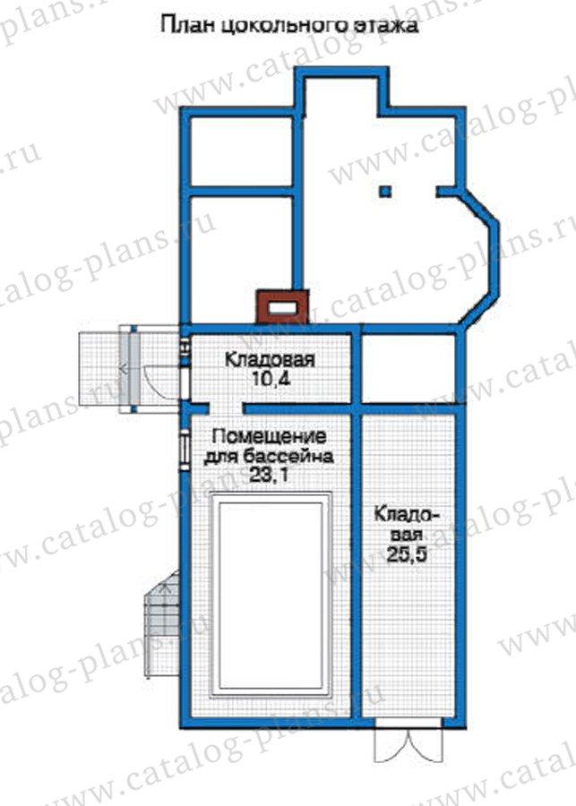 План 1-этажа проекта 12-21