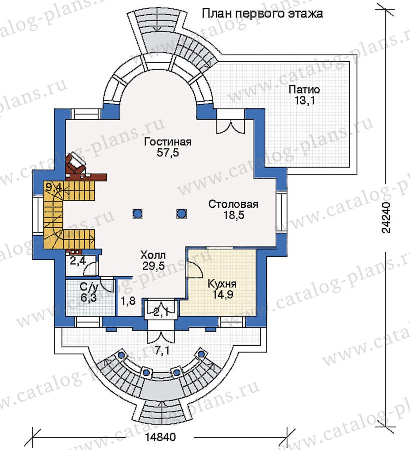 План 2-этажа проекта 35-27