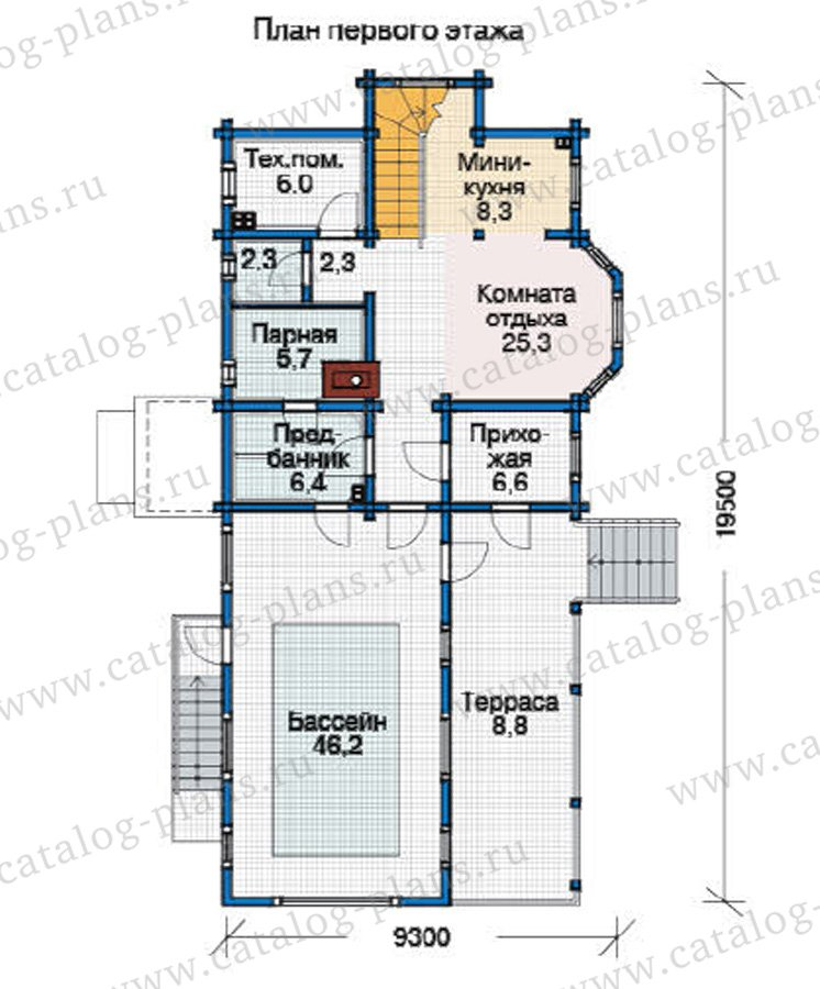 План 2-этажа проекта 12-21