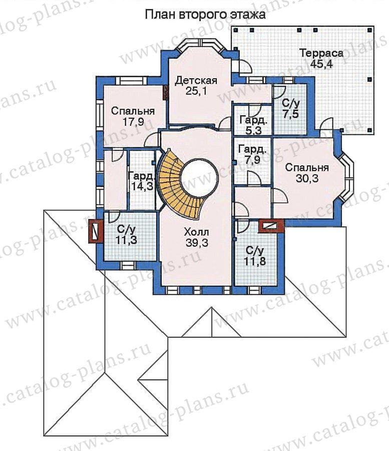 План 2-этажа проекта 35-23