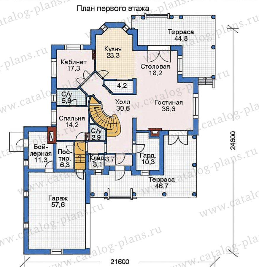 План 1-этажа проекта 35-23