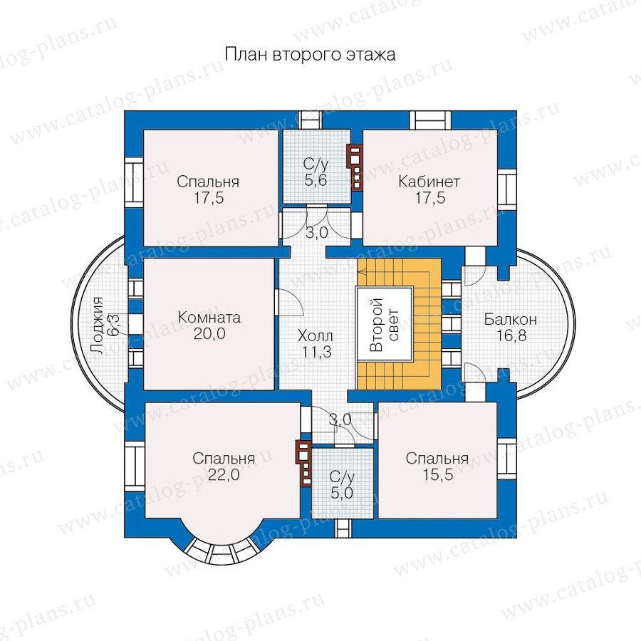 План 2-этажа проекта 40-52L