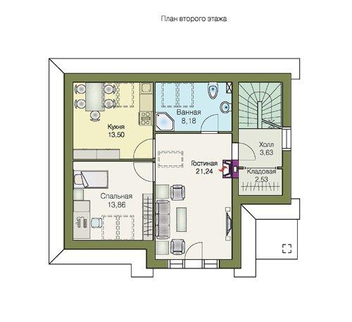 План 2-этажа проекта 70-01