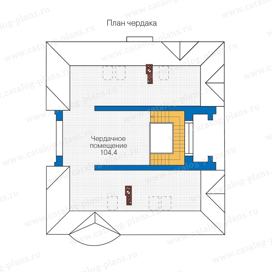 План 3-этажа проекта 40-52L