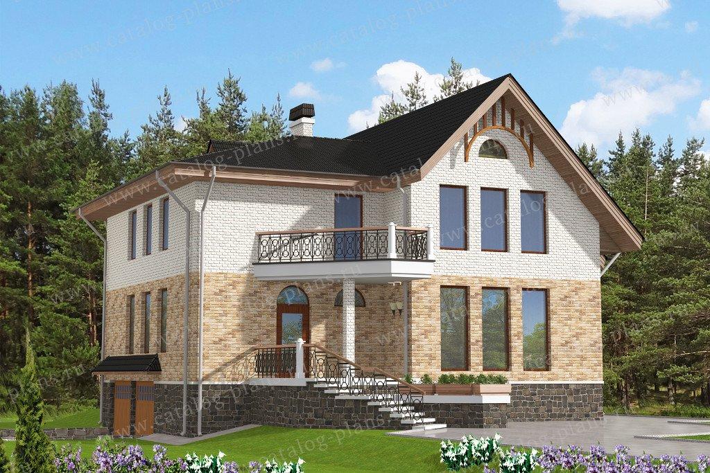 Проект жилой дом #47-55 материал - кирпич, стиль европейский