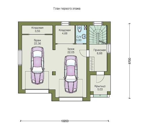 План 1-этажа проекта 70-01