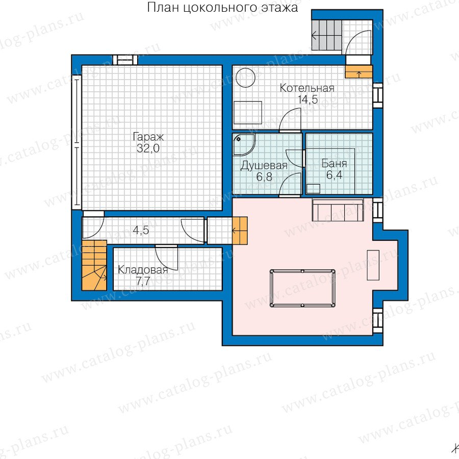 План 1-этажа проекта 47-55