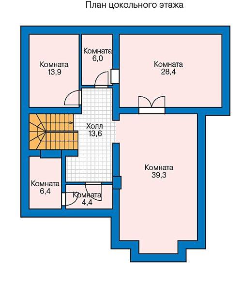 План 1-этажа проекта 57-39CL
